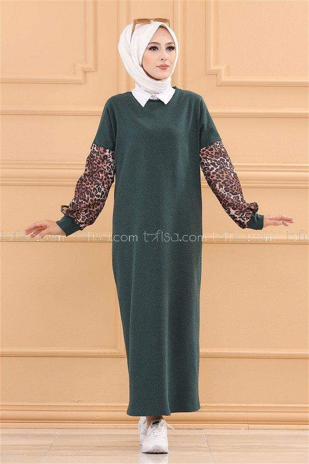 فستان لون زمرد 3239