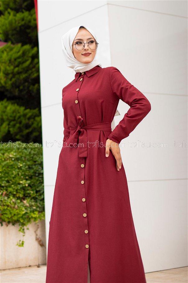 فستان لون خمري 3244