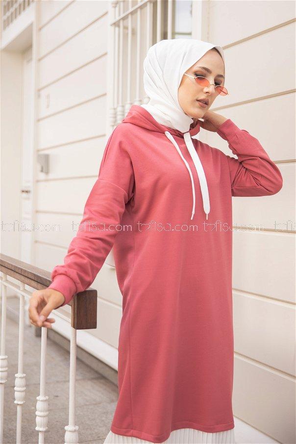 فستان لون وردي 3262