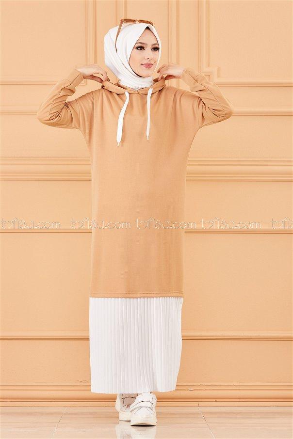 فستان لون بيج 3262