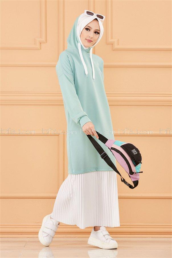 فستان لون ازرق فاتح 3262