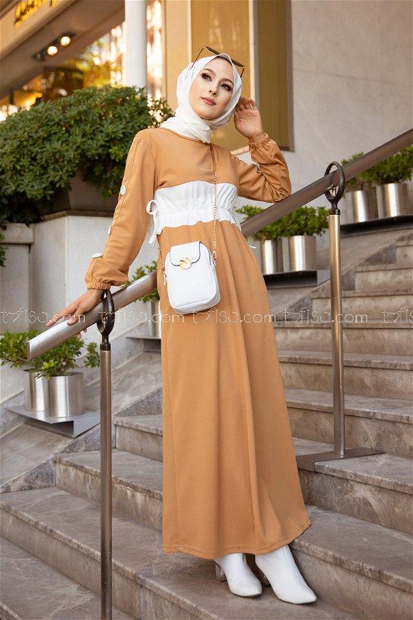 فستان لون بيج 3280