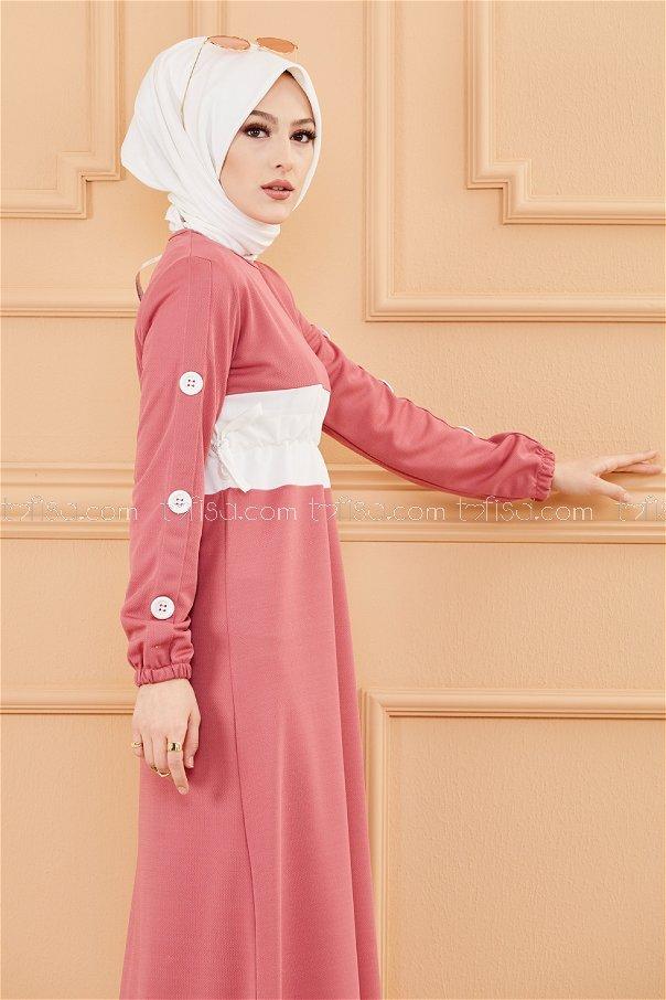 فستان لون وردي 3280