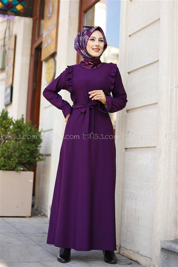 فستان لون نهدي 3291
