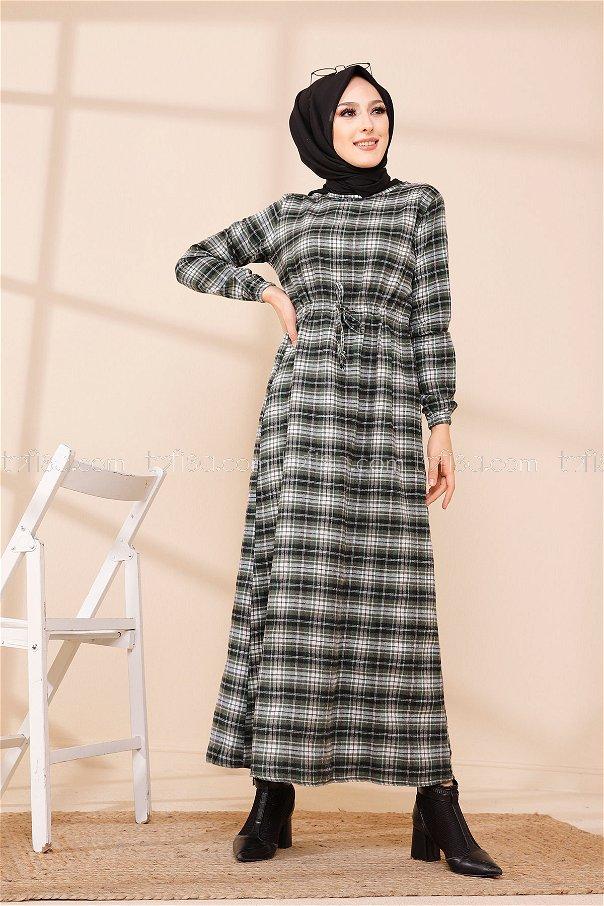 فستان لون اخضر 3297