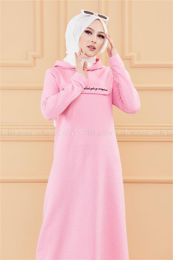 فستان لون زهري فاتح 3360