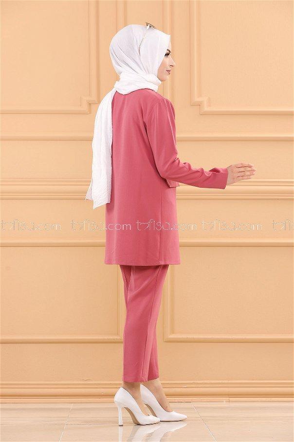 طقم لون زهري 3501