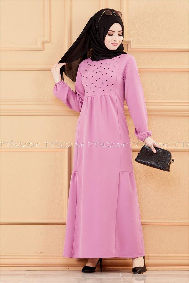 فستان لون ليلكي 3509