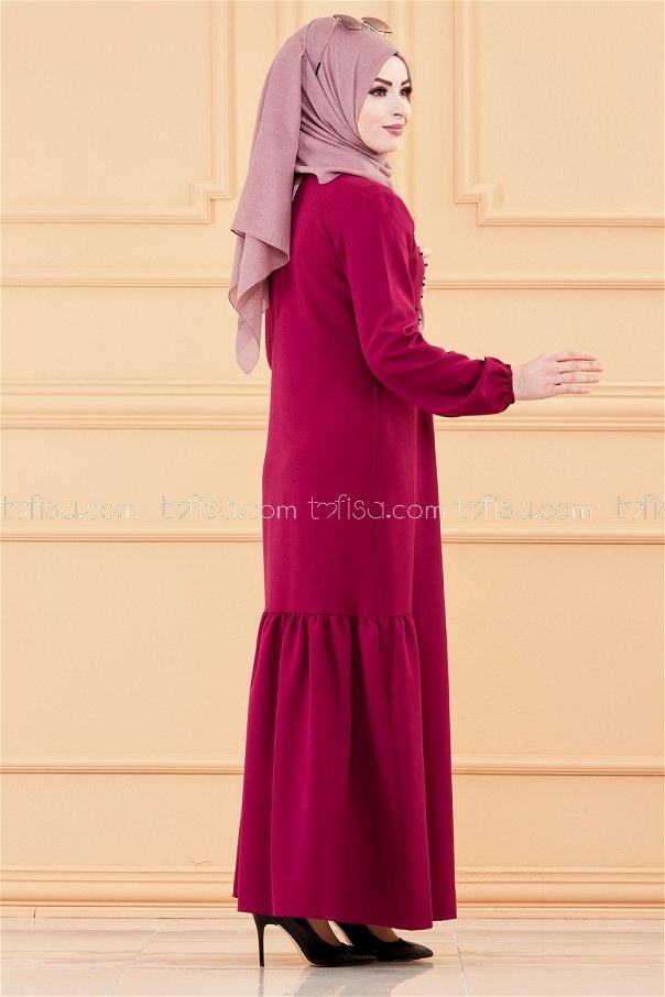 فستان لون موف داكن 3509