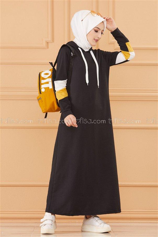 فستان لون اصفر 3530