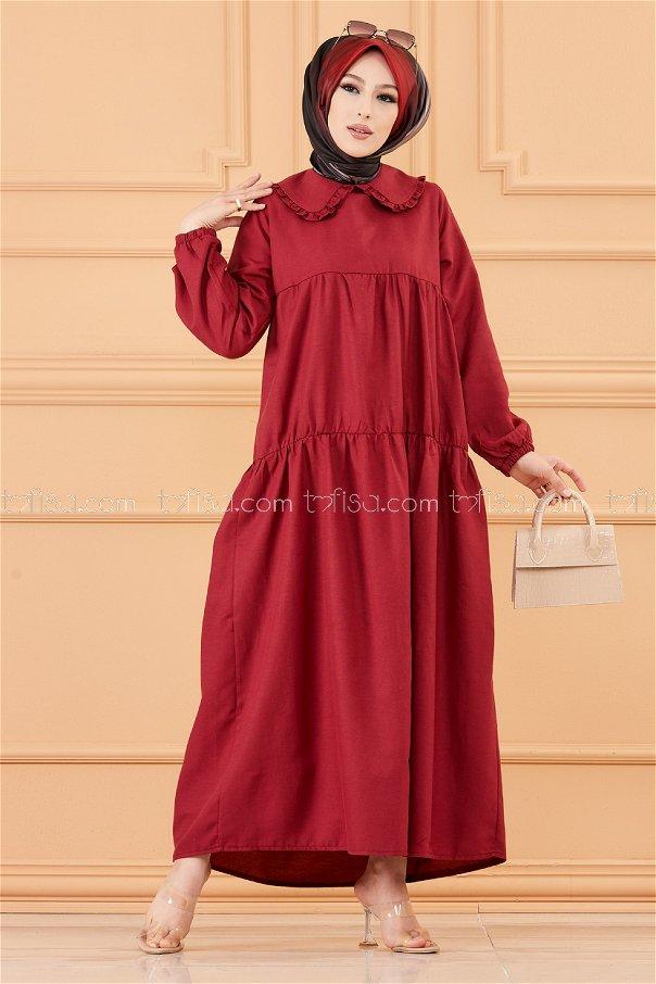 فستان لون خمري 3560