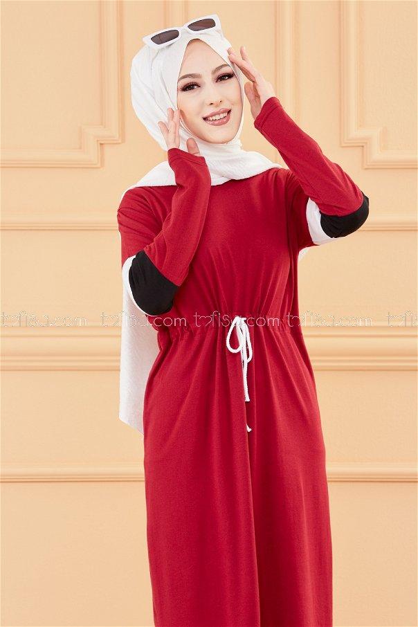فستان لون خمري 3562