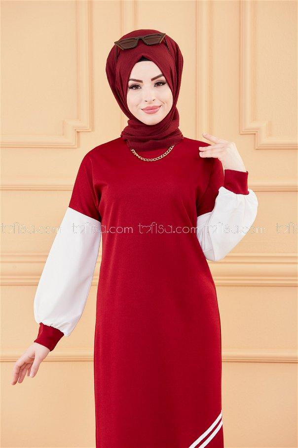 فستان خمري 3569
