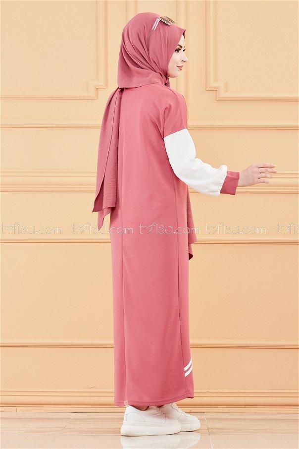 فستان لون وردي 3569