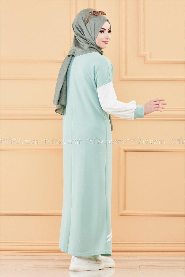 فستان لون ازرق فاتح 3569