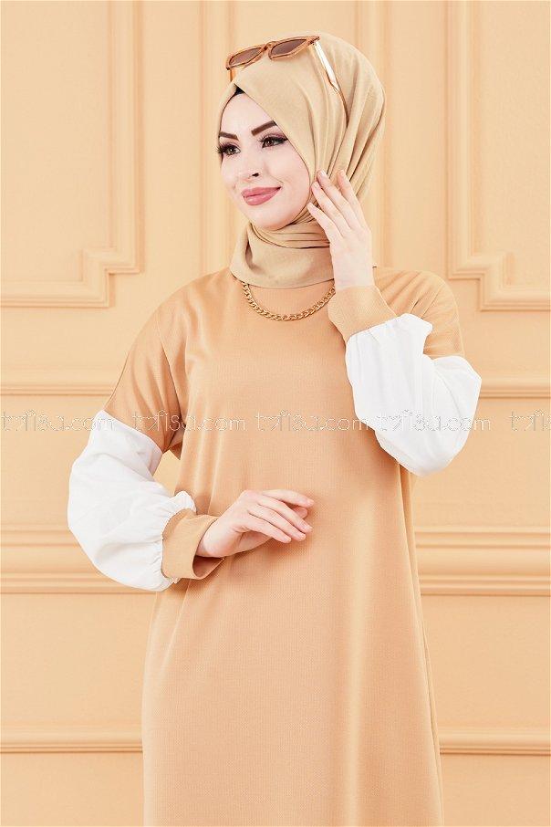 فستان لون بيج 3569