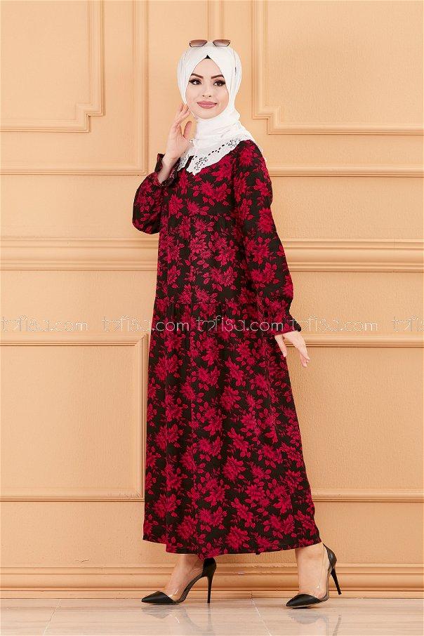 فستان لون خمري 3570