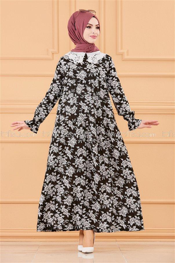 فستان لون ابيض 3570