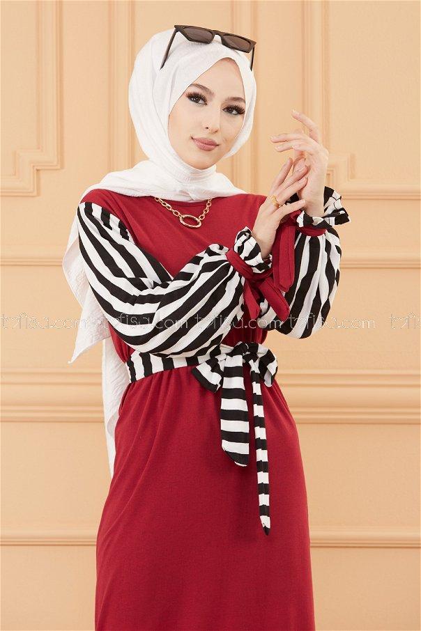 فستان لون خمري 3571