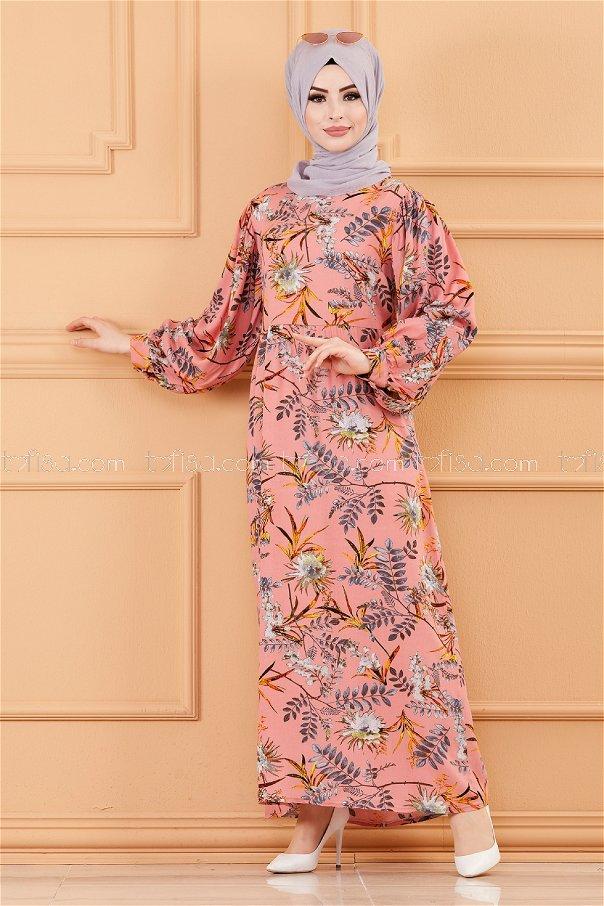 فستان لون وردي 3572