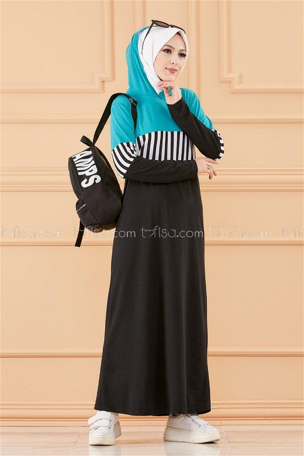 فستان لون ازرق فاتح 3606