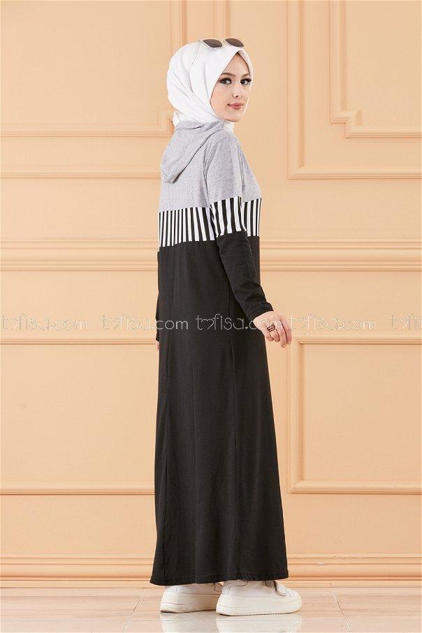 فستان لون فضي 3606