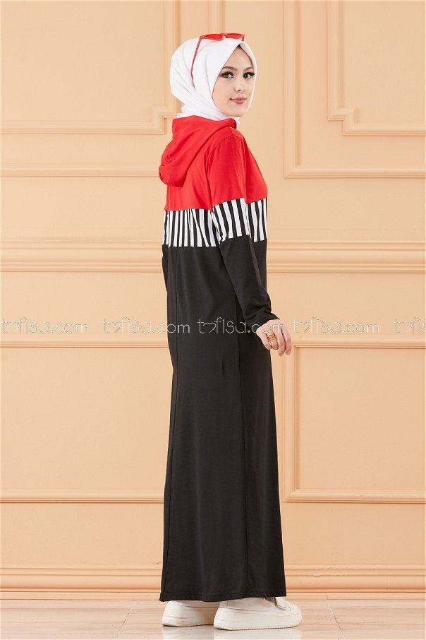 فستان لون احمر 3606