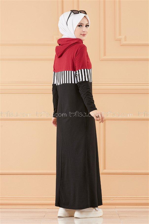فستان لون خمري 3606
