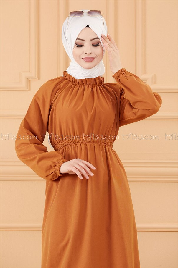 فستان لون بني 3636