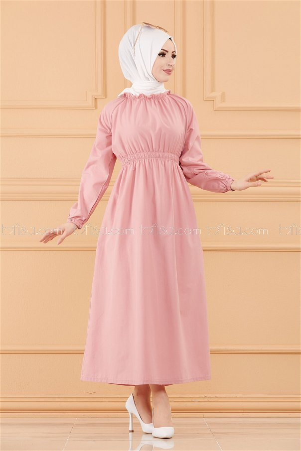 فستان لون زهري 3636