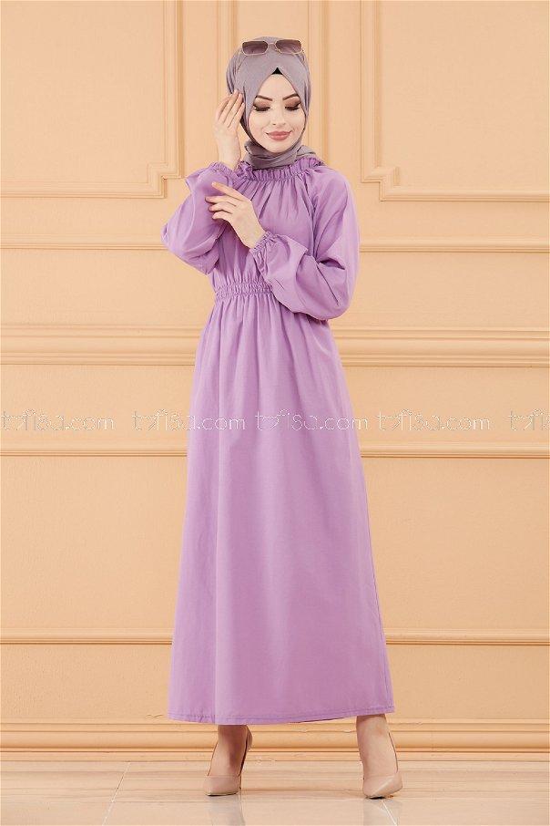 فستان لون ليلكي 3636