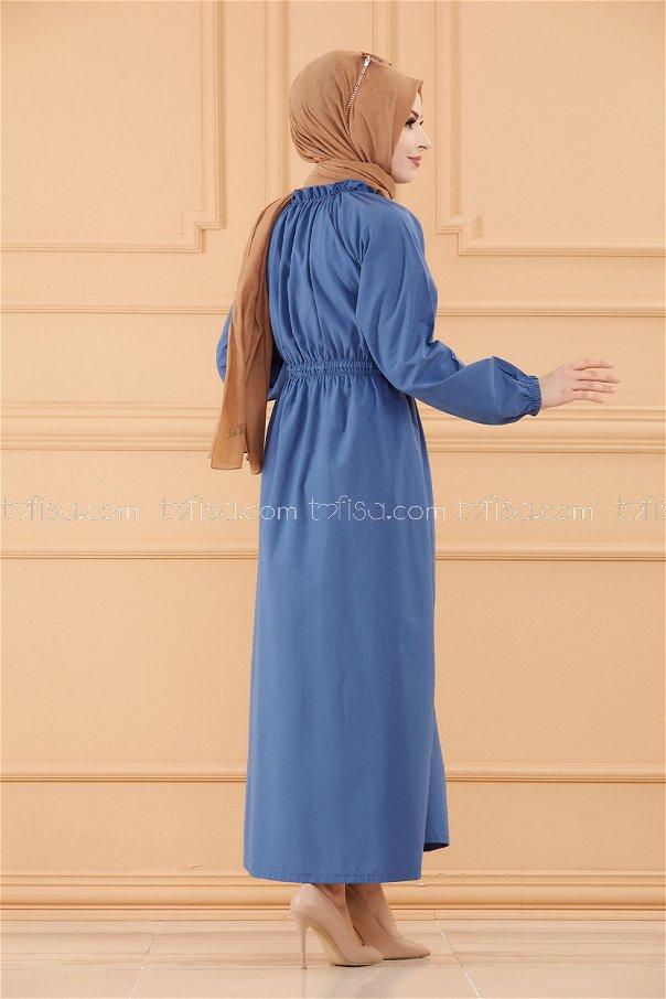 فستان لون ازرق داكن 3636
