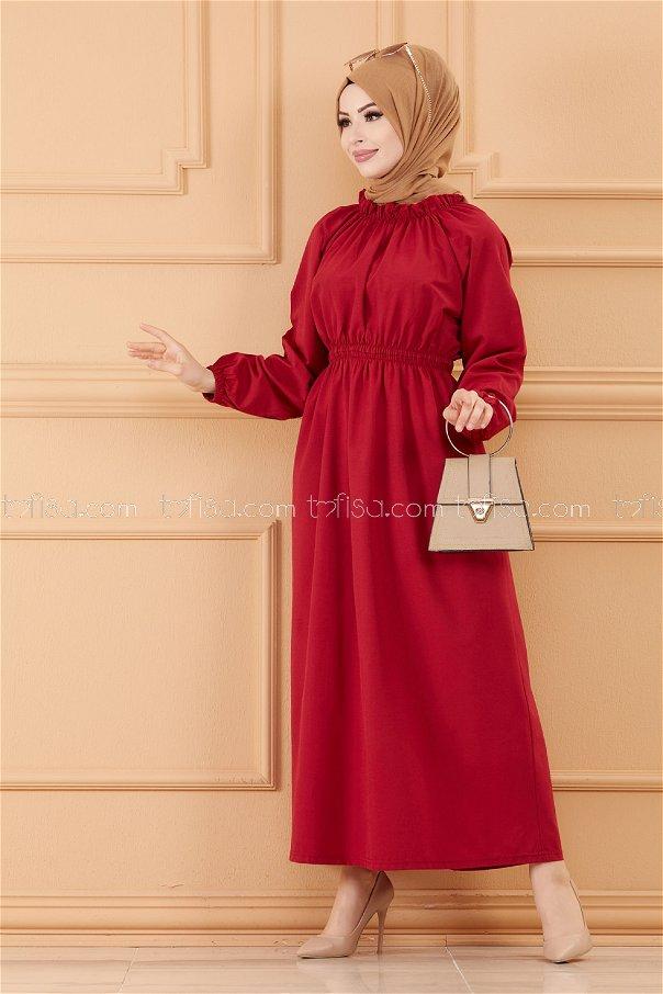 فستان لون خمري 3636