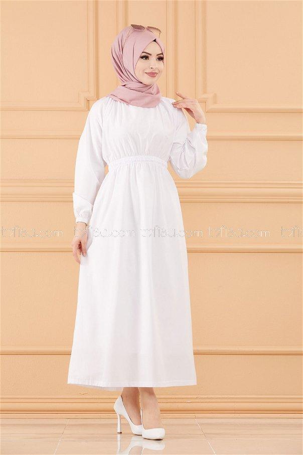 فستان لون ابيض 3636