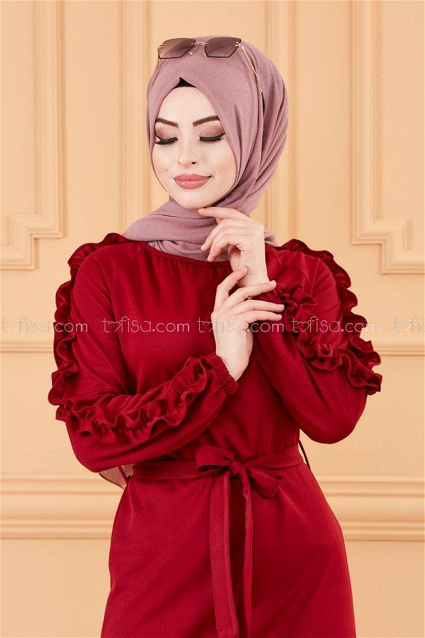 فستان لون خمري 3639