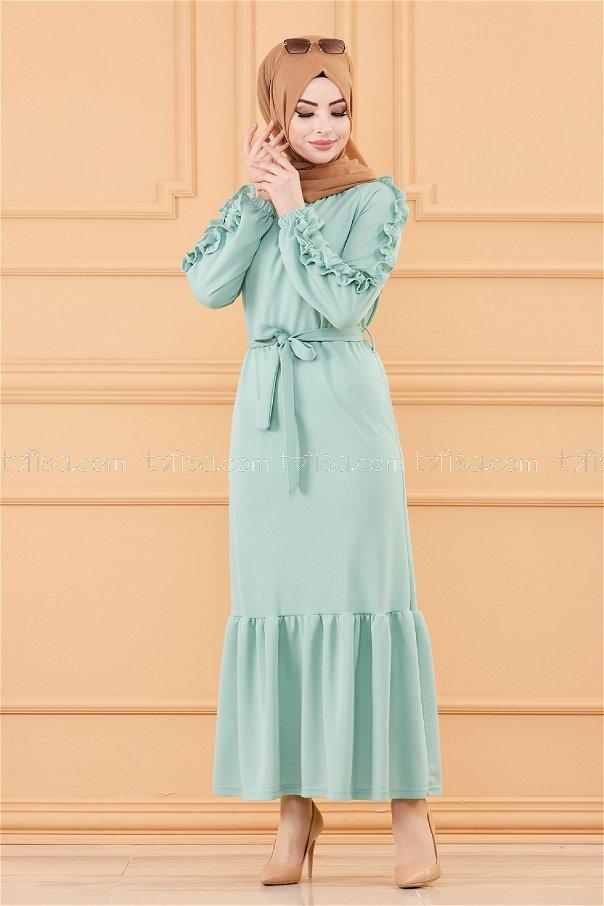 فستان لون ازرق فاتح 3639