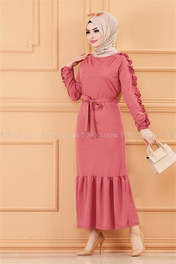 فستان لون زهري 3639