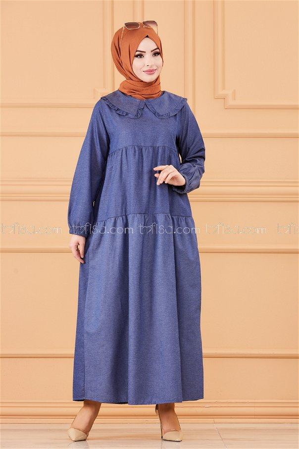 فستان لون كحلي 3654