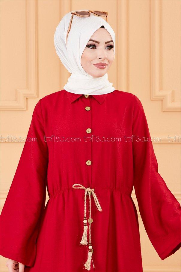 فستان لون خمري 3657