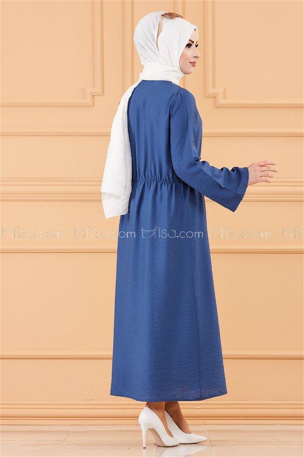 فستان لون ازرق داكن 3657