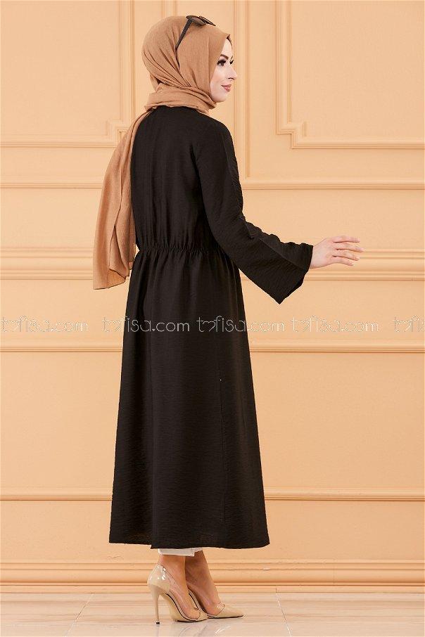 فستان لون اسود 3657