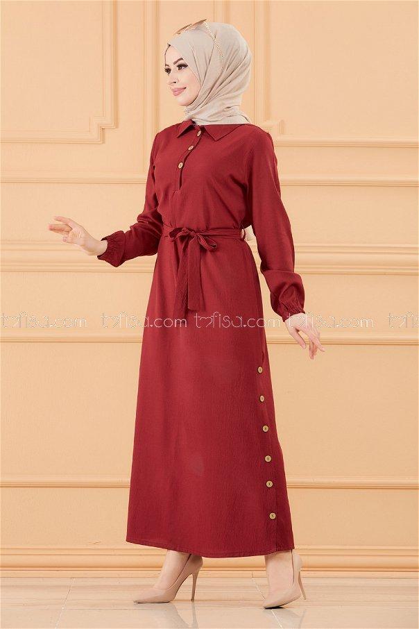 فستان لون خمري 3658