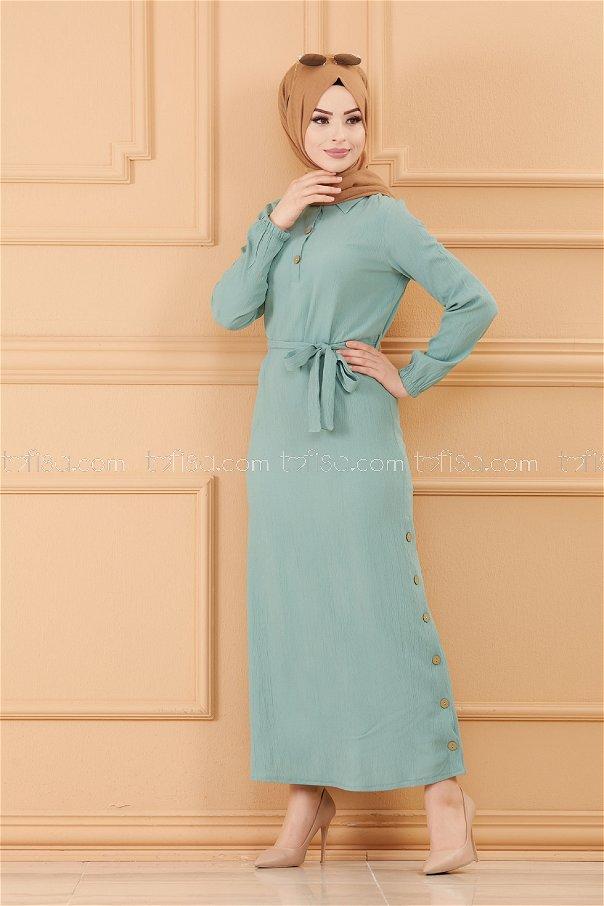 فستان لون ازرق فاتح 3658