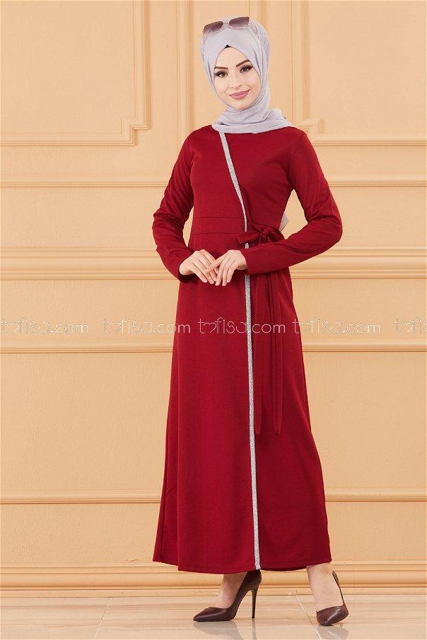 فستان لون خمري 3667