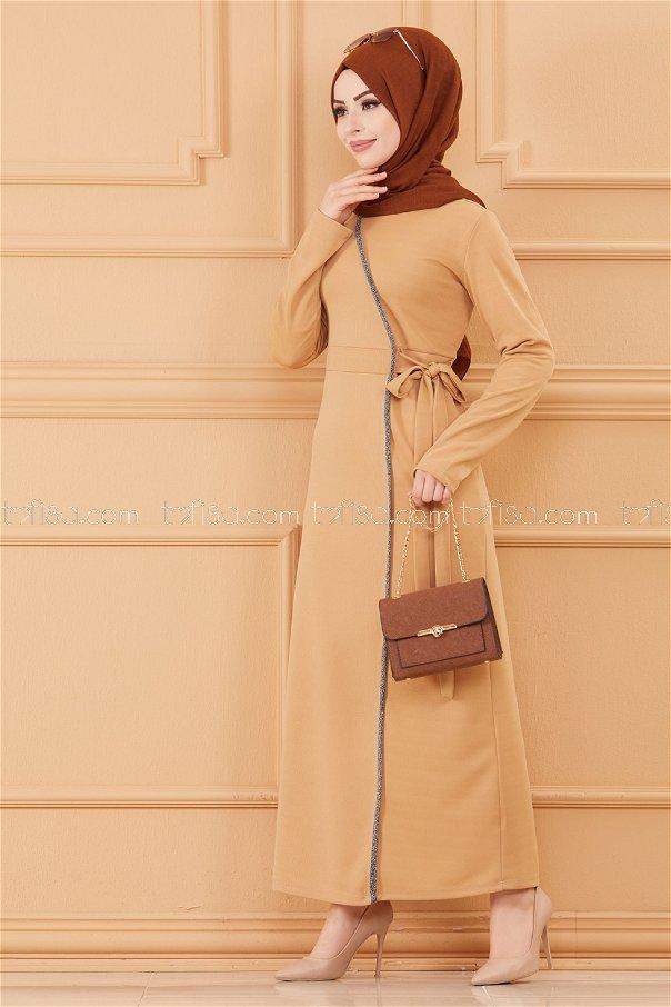 فستان لون بيج 3667