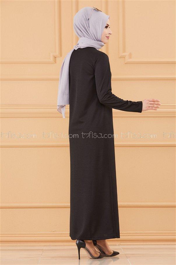 فستان لون اسود 3667