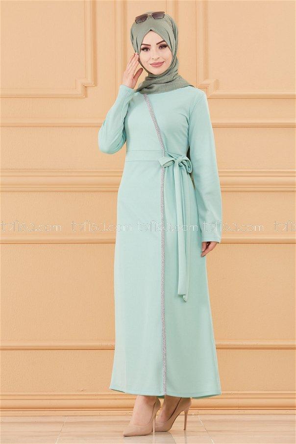 فستان لون ازرق فاتح 3667