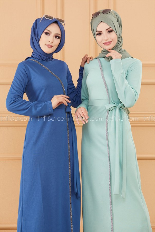 فستان لون ازرق داكن 3667