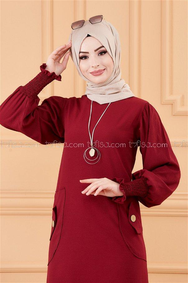 فستان لون خمري 3669