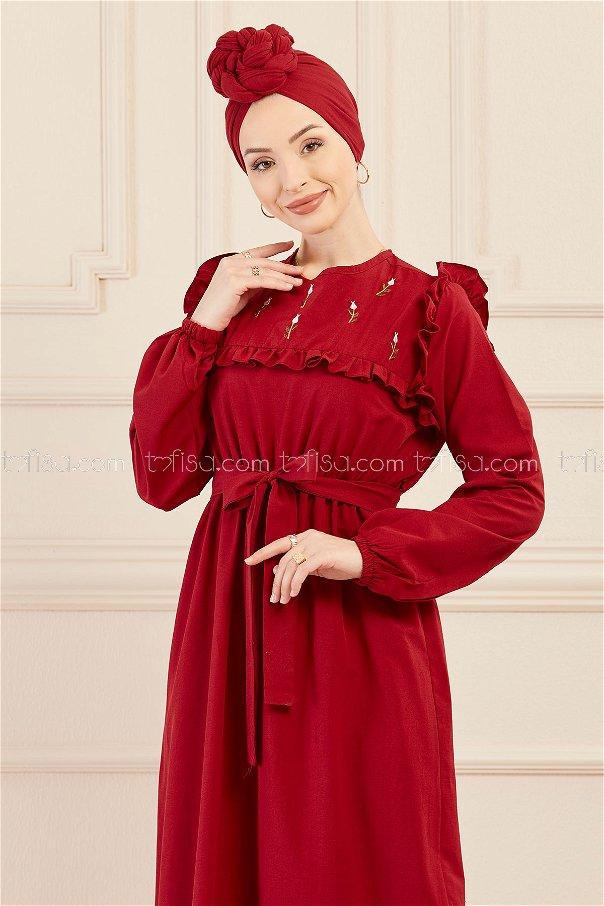 فستان لون خمري 3674